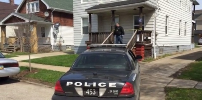La maison de Cleveland où le drame s'est déroulé.