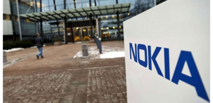 Devant le siège de Nokia à Espoo (Finlande)